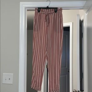 pink and white pants